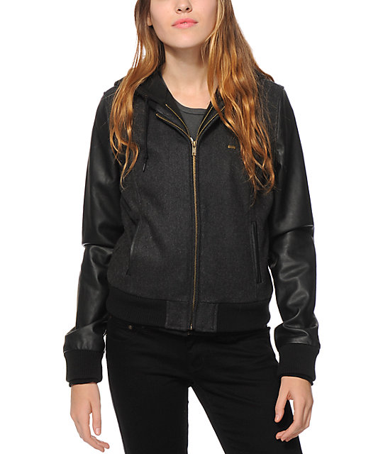 Obey Jealous Again Hooded Bomber Jacket at Zumiez : PDP