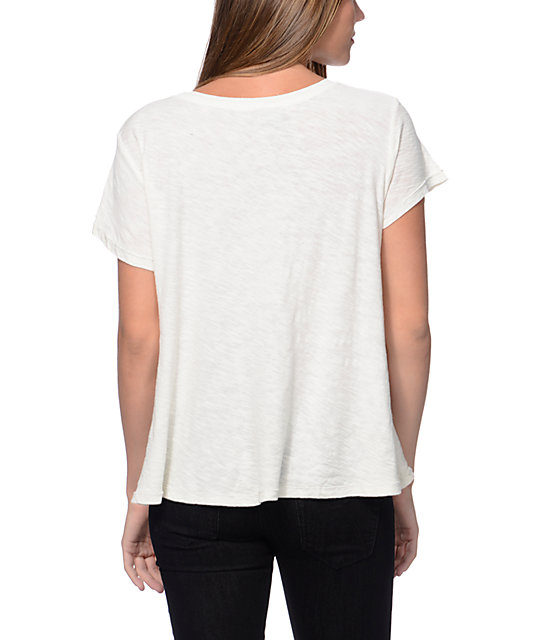 Obey Jealous Again Natural White Slub Dolman Top