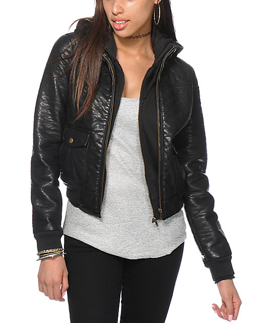 Obey Jealous Lover Black Pebble Bomber Jacket