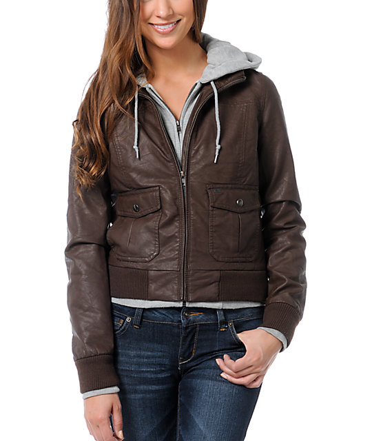 Obey Jealous Lover Brown Bomber Jacket