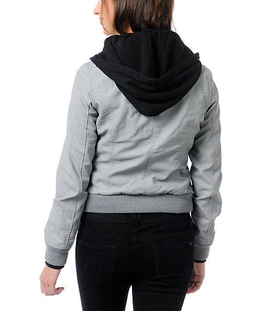 Obey Jealous Lover Grey Bomber Jacket
