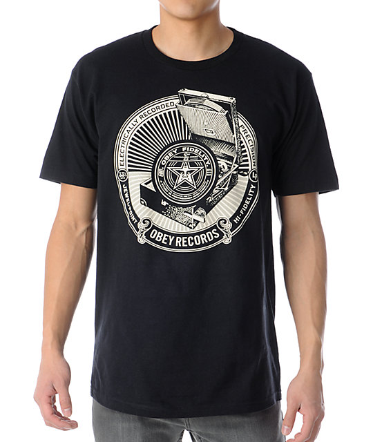 Obey Jewel Point LP Black T-Shirt
