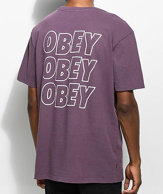 Obey Jumble Lo-Fi Dusty Eggplant T-Shirt