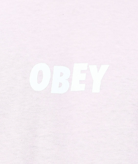 Obey Jumbled Light Pink T-Shirt
