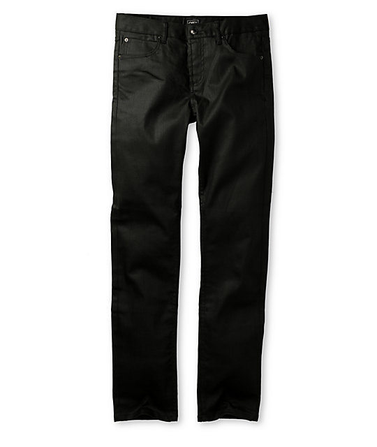 Obey Juvee Modern Coated Raw Black Jeans