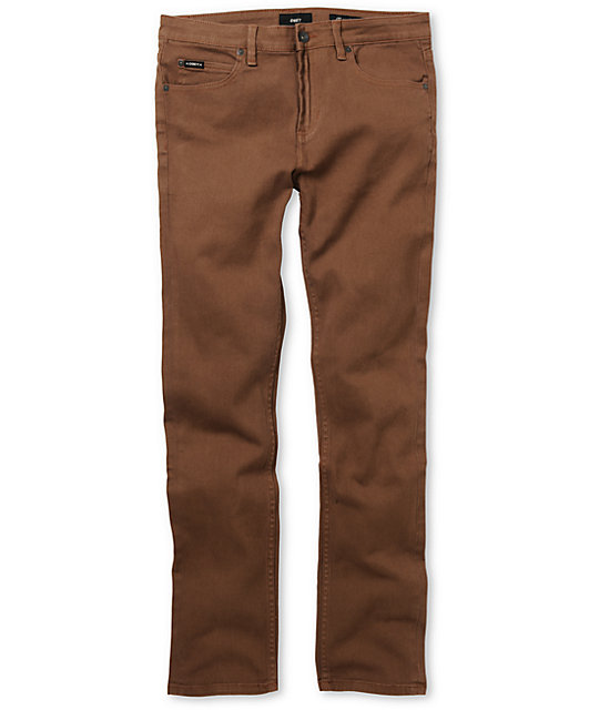 Obey Juvee Mustang Brown Slim Jeans