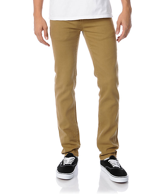 Obey Juvee Tobacco Brown Slim Jeans