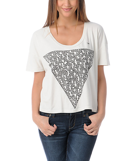Obey Keith Haring Triangle Vintage Crop T-Shirt