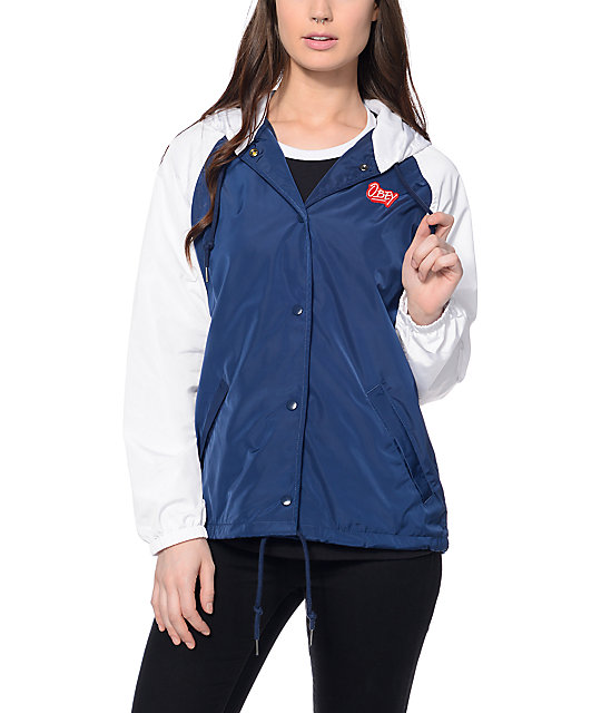 Obey Kibby Hooded Coaches Jacket