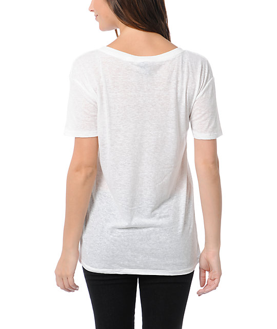 Obey LA White Nubby Throwback T-Shirt