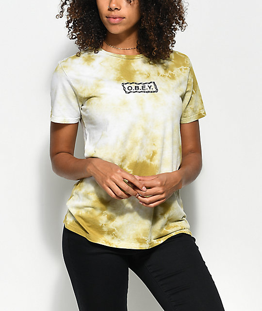 Obey Labour Of Love Avocado Tie Dye T Shirt by Obey