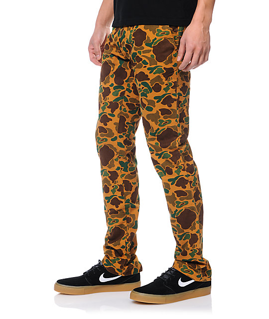 Obey Layover Bubble Camo Slim Fit Chino Pants