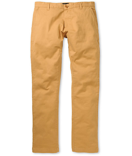 Obey Layover Cinnamon Slim Fit Chino Pants