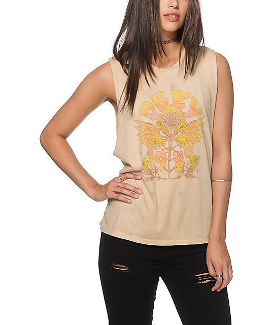 Obey Levitation Dirty Wash Muscle Tank Top