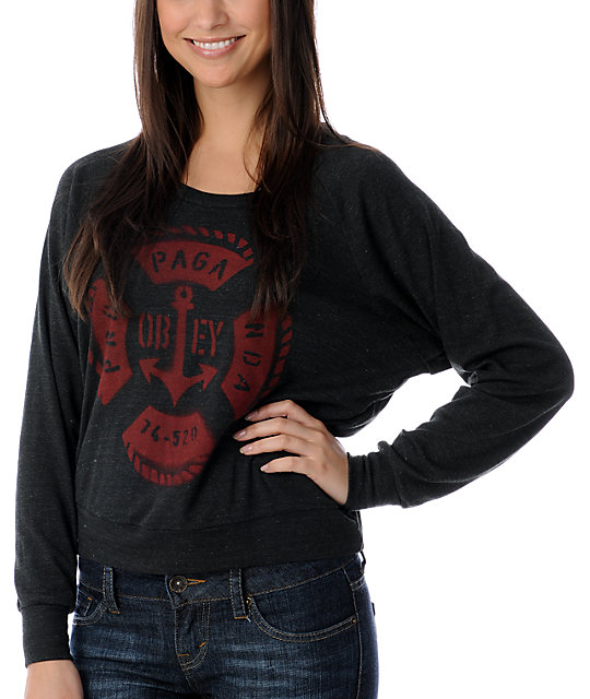 Obey Life Saver Charcoal Top