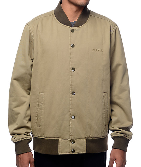 Obey Linesman Dusty Army Bomber Jacket