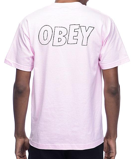 Obey Lo-Fi Light Pink T-Shirt