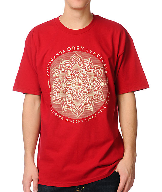Obey Lotus Syndicate Red T-Shirt