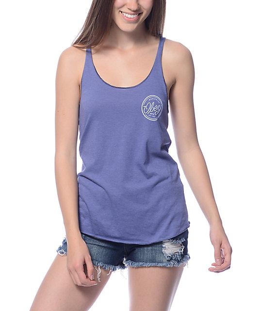 Obey MFG Blue Violet Track Tank Top