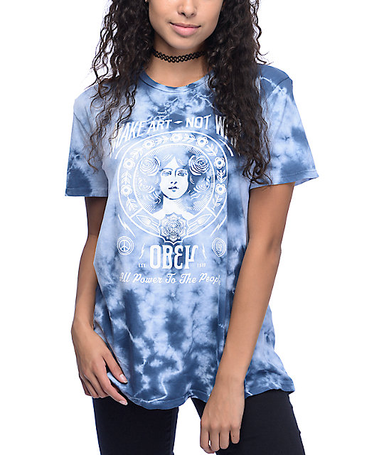 Obey Make Art Not War 2 Tie Dye T-Shirt