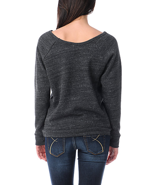 Obey Make Art Not War Vandal Crew Neck Sweatshirt