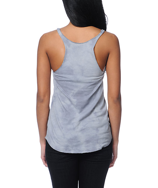Obey Marked For Life Grey Tie Dye Tank Top
