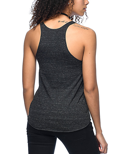 Obey Marker Block Black Track Tank Top