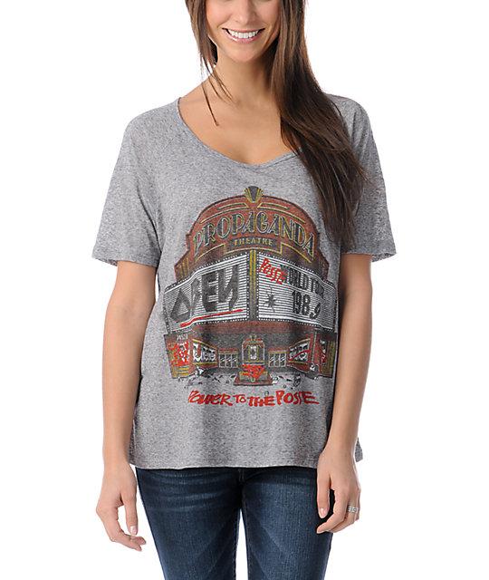 Obey Marquee Grey Nubby Raglan T-Shirt