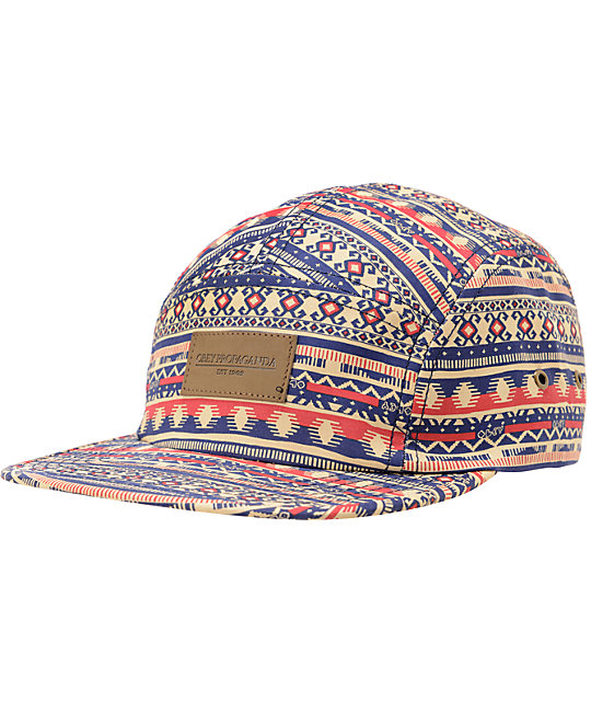 Obey Marrakesh Tan 5 Panel Hat