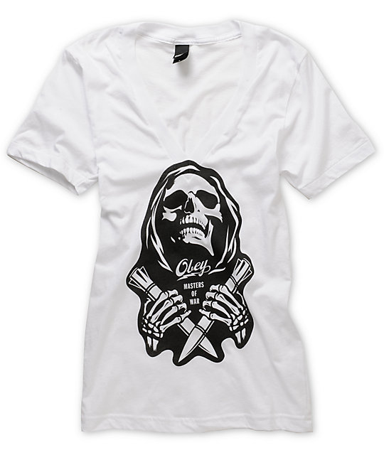 Obey Masters Of War V-Neck T-Shirt