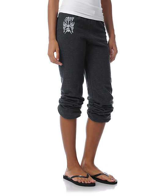 Obey Midnight Burner Charcoal Grey Sweatpants