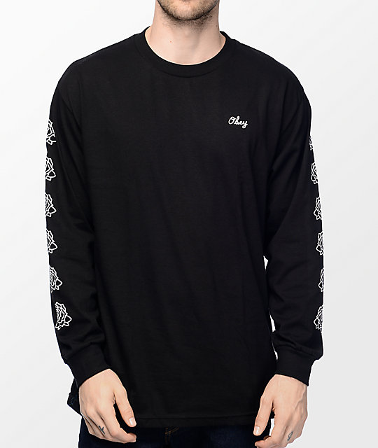 Obey Mira Rosa 2 Black Long Sleeve T-Shirt at Zumiez : PDP