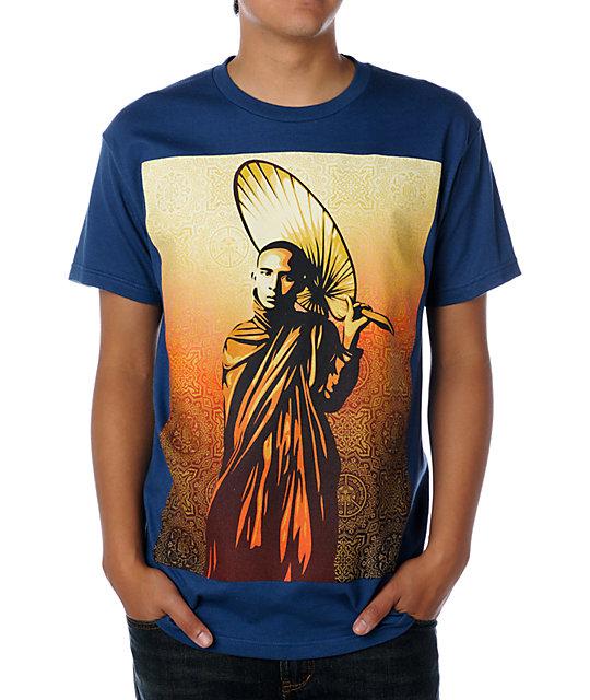 Obey Monk In Burma Blue T-Shirt