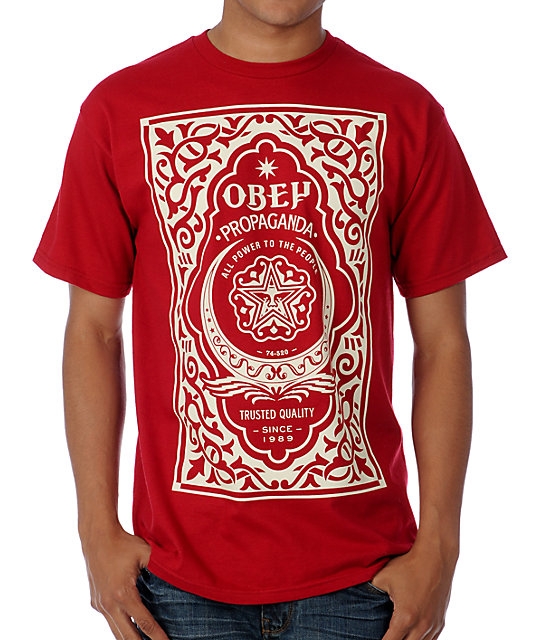 Obey Moroccan Label Red T-Shirt