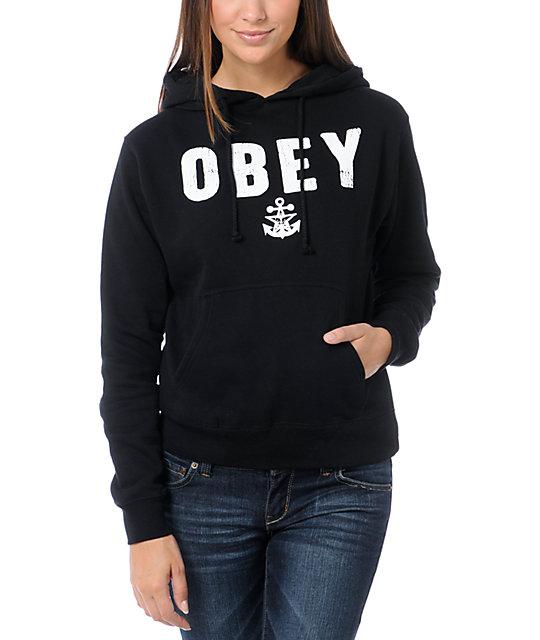Obey Navy Black Pullover Hoodie