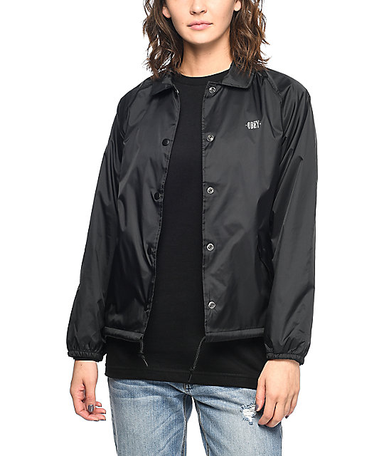 Obey New Times Black Coaches Jacket | Zumiez