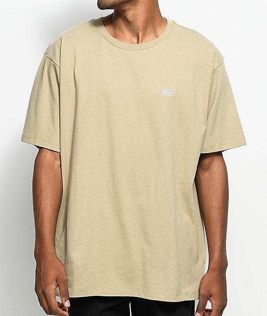 Obey New Times Box Khaki T-Shirt
