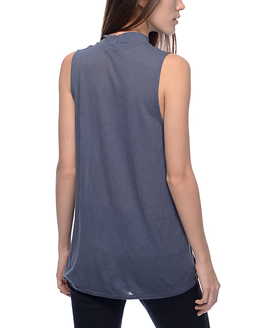Obey New Times Modern Alex Navy Tank Top