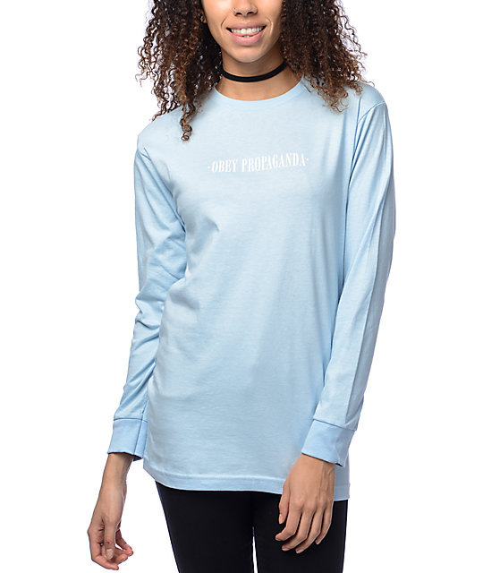 New Times True Light Blue Long Sleeve T-Shirt