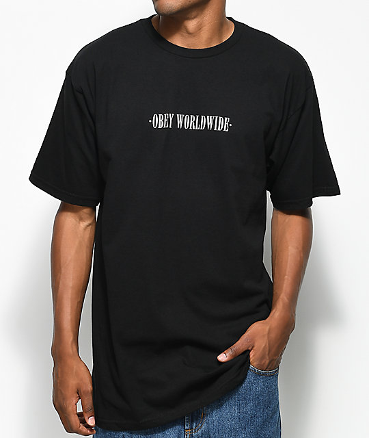 Obey New Times Worldwide Black T-Shirt