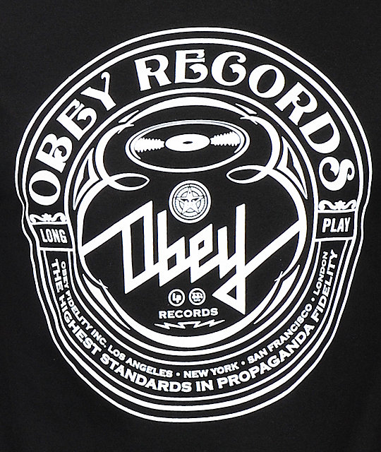 Obey New Wave Script T-Shirt