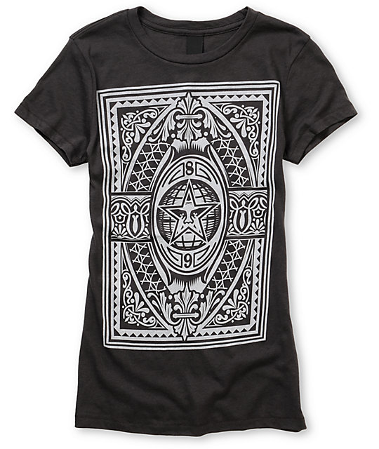 Obey New World Order Grey Crew T-Shirt