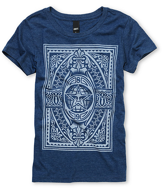 Obey New World Order Navy T-Shirt