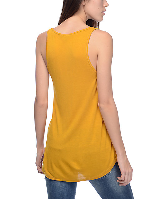 Obey Next Round 2 Off Duty Mustard Tank Top