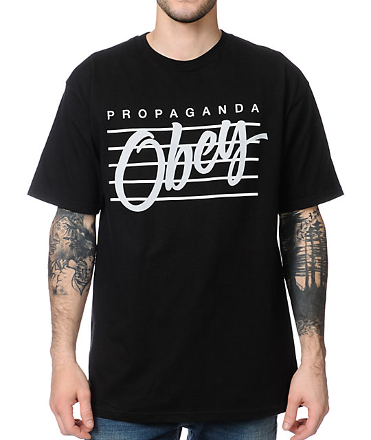 Obey Nine Nickel Black T-Shirt
