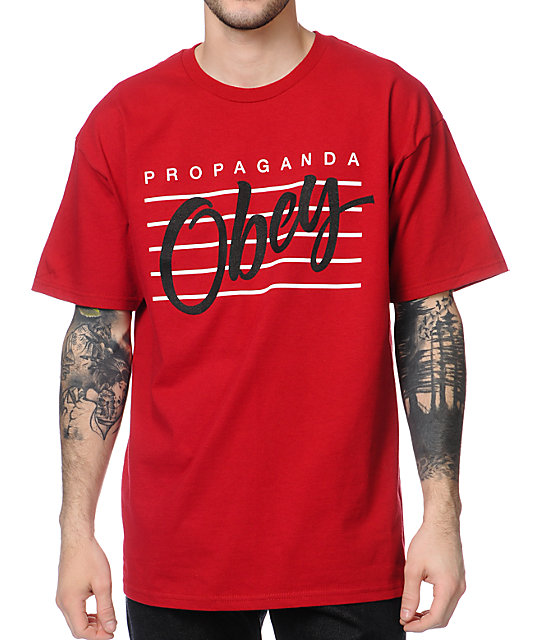Obey Nine Nickel Red T-Shirt