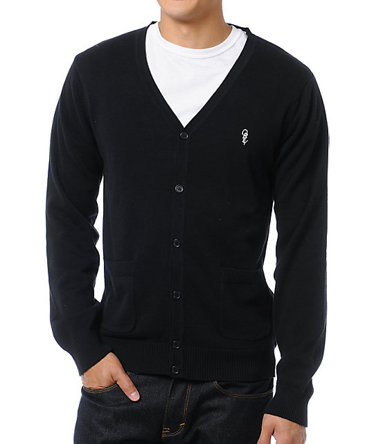 Obey Noble Black Cardigan Sweater | Zumiez