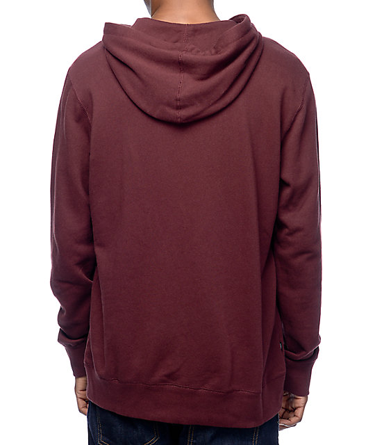 Obey North Point Burgundy Pullover Hoodie | Zumiez
