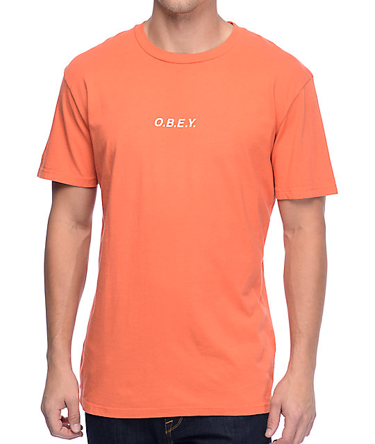 Obey O.B.E.Y. Dusty Orange T-Shirt