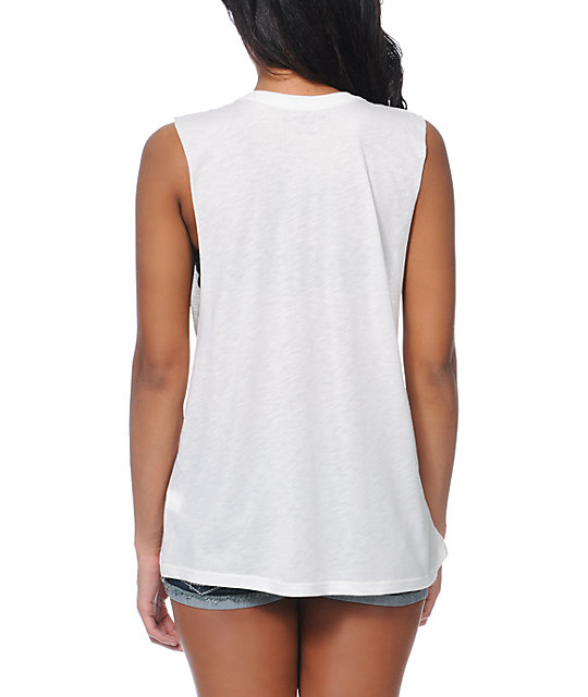 Obey OG Bones White Muscle Tank Top